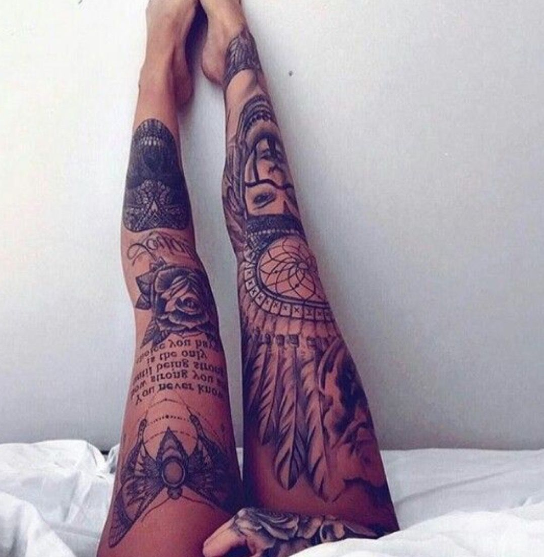 In love with these leg sleeves the contrast between the for Tattoo leg sleeves