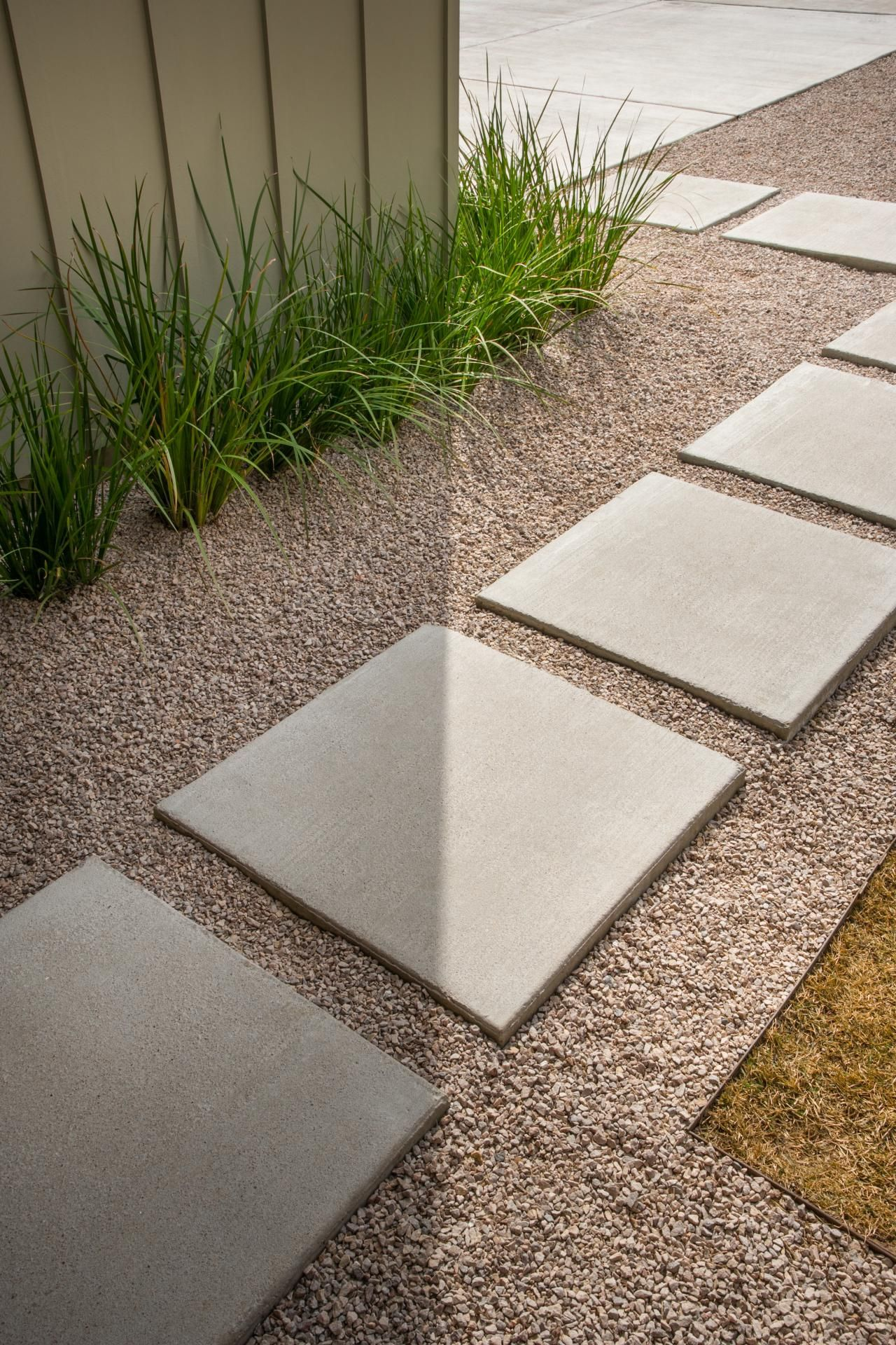 Pictures of the hgtv smart home 2015 front yard drought for Cleaning concrete paths