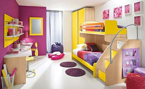 What a cute design for a bunk bed!
