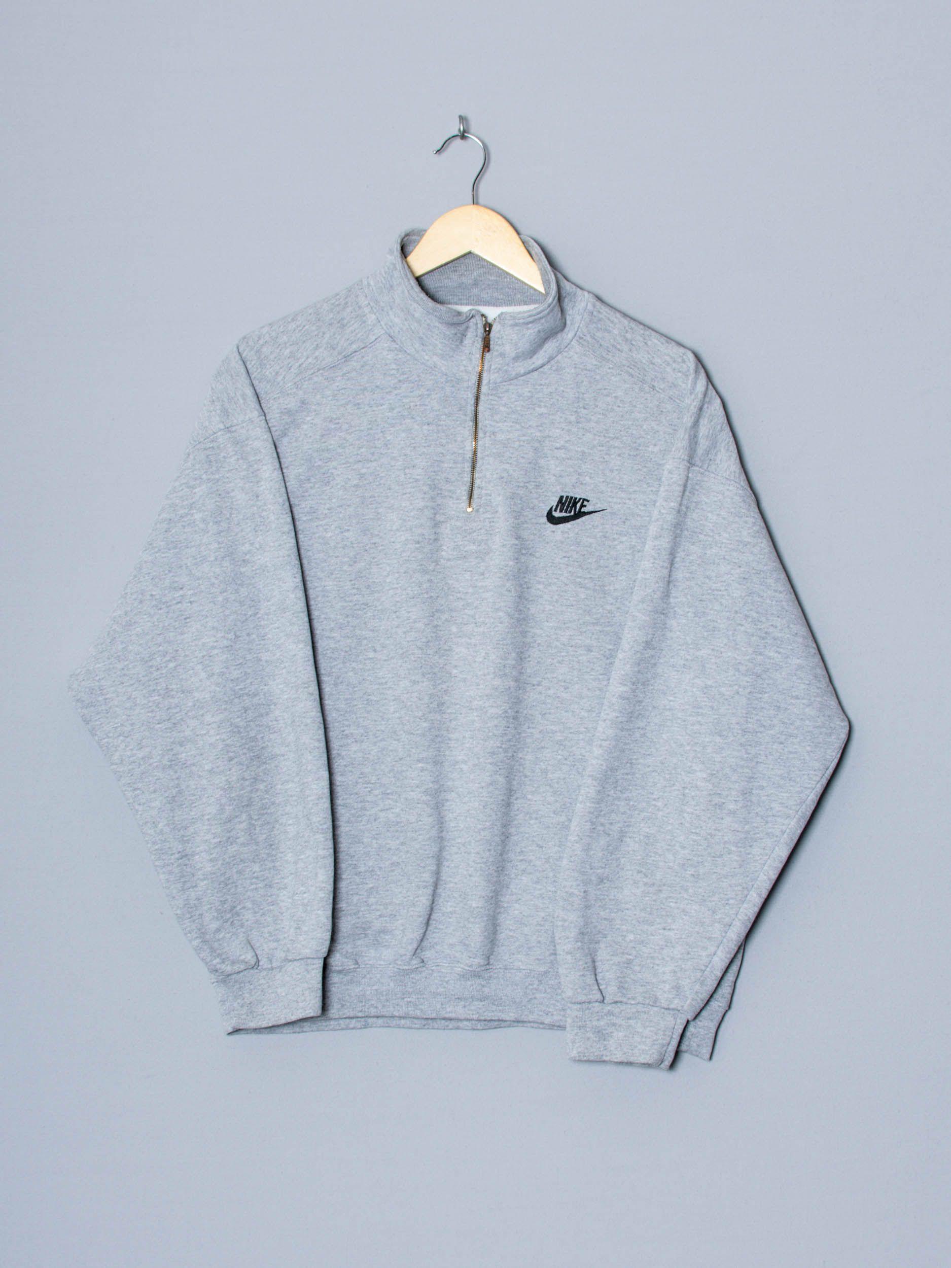 Fracaso Enriquecimiento oportunidad  Nike Grey 1/4 Zipper Sweatshirt | Impala Vintage en 2020 | Sudaderas,  Mangas, Nike