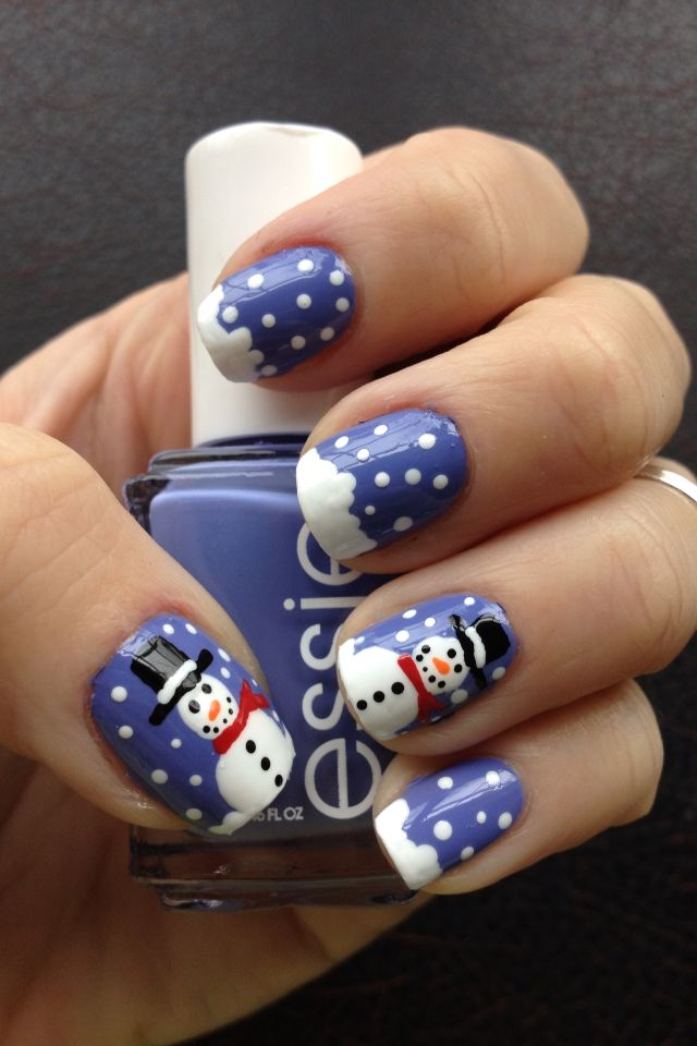 Delicious Nail Designs: Frosty The Snowman Nail Art!