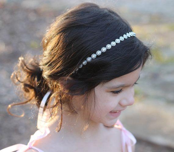 Headband Childrens Flower Girl Wedding Bridal Rhinestone Headband Child  Headband Baby Girl Christeni c25ac63b06d