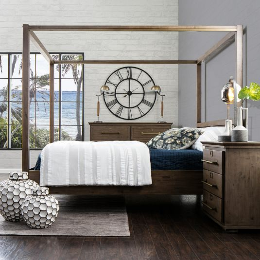 Rustic Industrial Bedroom Set | Canopy Bedroom Set For Sale