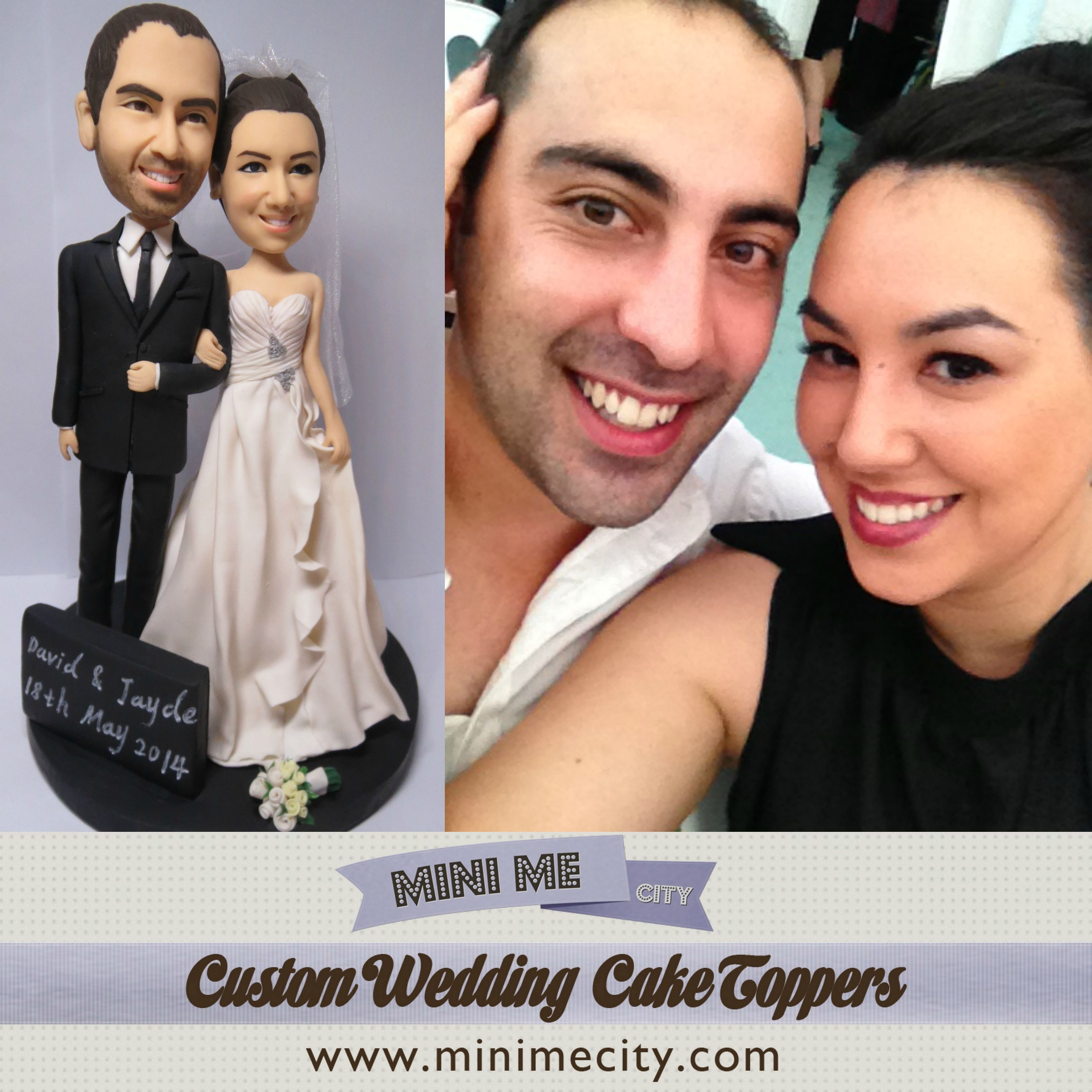 Custom Cake Toppers to look like the bride and groom!