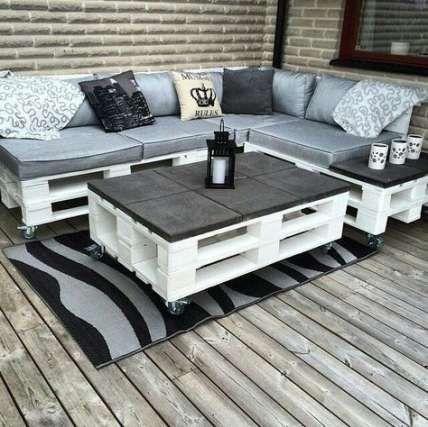 43 Trendy Backyard Patio Seating Pallet Furniture - #Backyard #Furniture #Pallet #patio #Seating #tr...