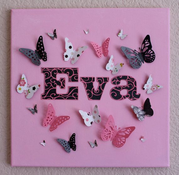 Christening, New baby Personalized Butterfly Canvas - Nursery Art on Etsy, $49.93 AUD