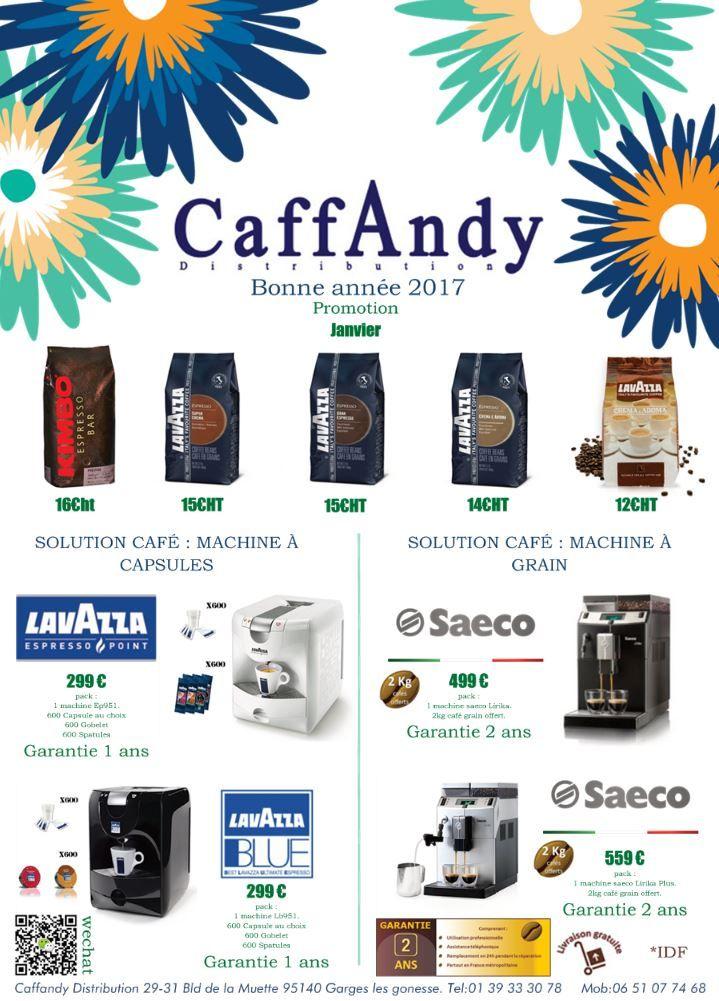 Caffandy Promotion Janvier 2017.  #kimbo #lavazza #saeco #grandespresso #prestige #crema #café #lirika #lavazzablue #promo #2017 #espresso #capsules #grain #machineacafé