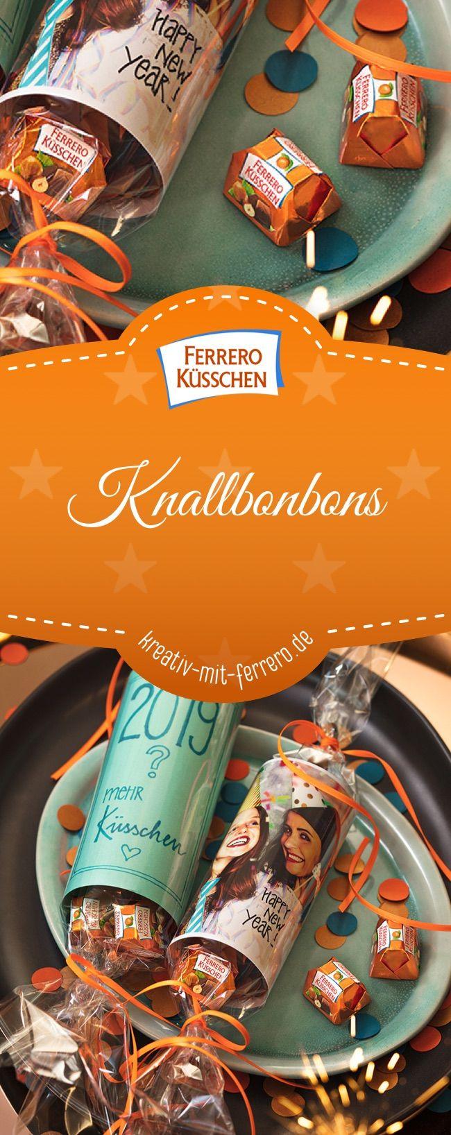 Knallbonbons: Süße Knallbonbons für einen besonderen Jahreswechsel #diy #silvester #ferreroküsschen