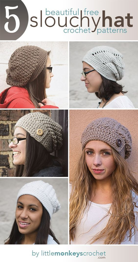 5 [more!] Beautiful + Free Slouch Hat Patterns | DIY projects and ...