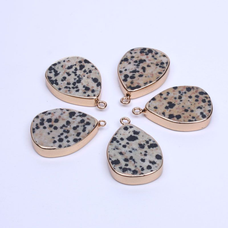 Wholesale fashion Dalmatian stone Water dropletspendants for