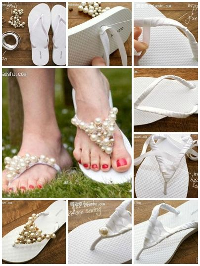 1ca6bf95b ... Flip Flops to Welcome Summer in Style! how to make unique Bohemia  splint beads slippers step by step DIY .