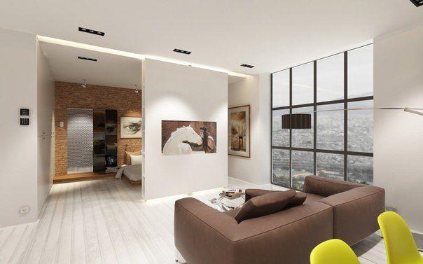 Проект квартиры-студии площадью 57 кв.м.