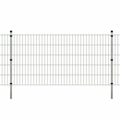 Festnight Steel Single Door Fence Gate Garden Fencing Gate for Outdoor Protection