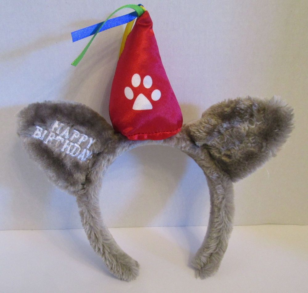 0552b1947 Great Wolf Lodge Plush Fuzzy Ears Happy Birthday W/ Party Hat ...