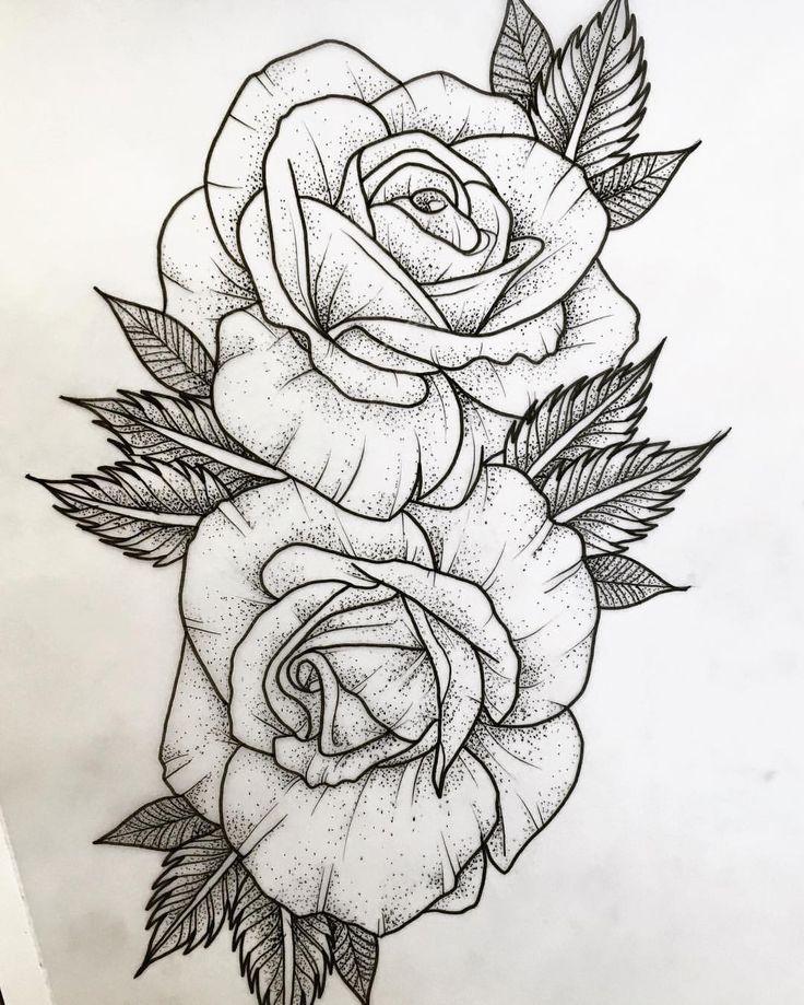 resultado de imagem para desenho de rosas para tattoo cartoons