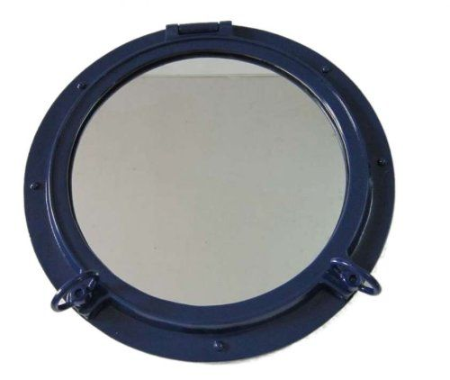 "Amazon.com: Hampton Nautical Titanic Shipwrecked Porthole Mirror, 20"": Home Improvement"