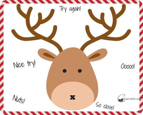 Genius image inside pin the nose on the reindeer printable