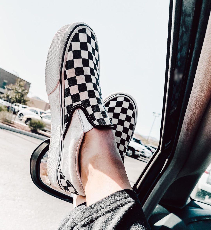 vans slip on checkerboard fashion