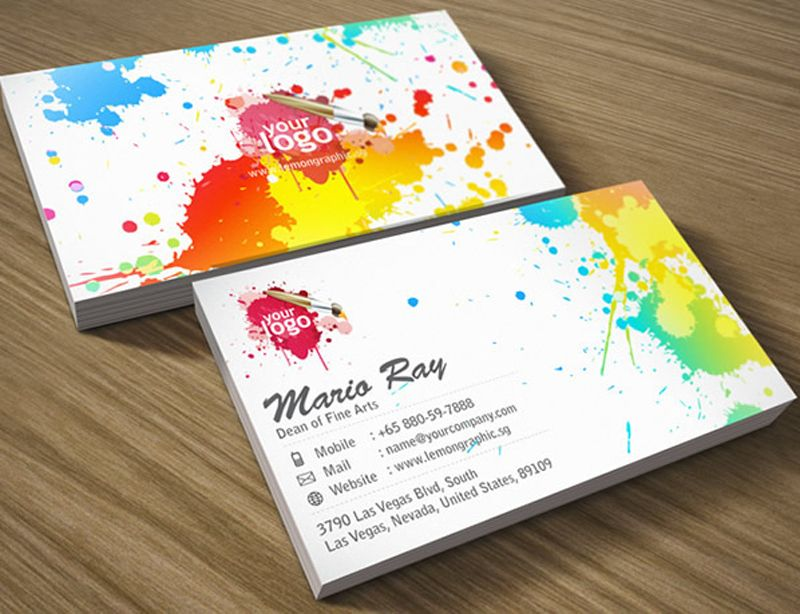 Beautiful examples of colorful business card designs – Playing ...