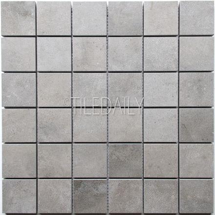 Cement Porcelain Square Mosaic 4 Colors Tiles Concrete Look