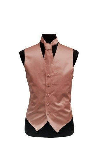 Boys/' Poly Satin Solid Color Vest for Prom Wedding MANY Colors to Match With