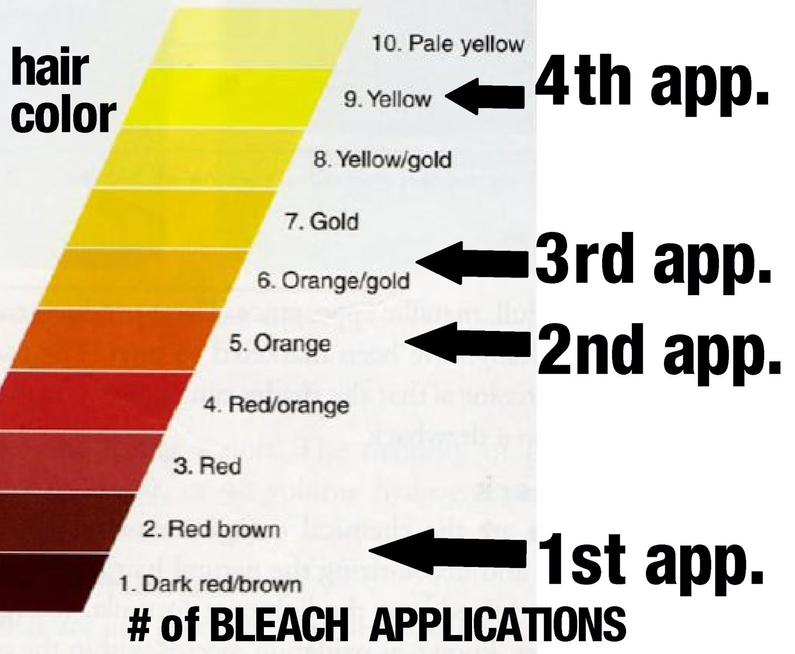 Image Result For Bleach Color Chart