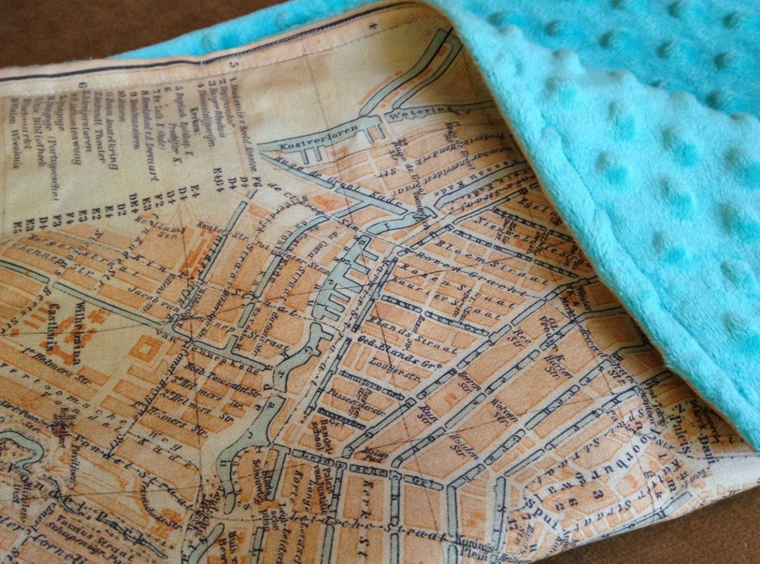 Amsterdam map blanket baby minky security blankie small travel amsterdam map blanket baby minky security blankie small travel blanky lovie lovey gumiabroncs Images