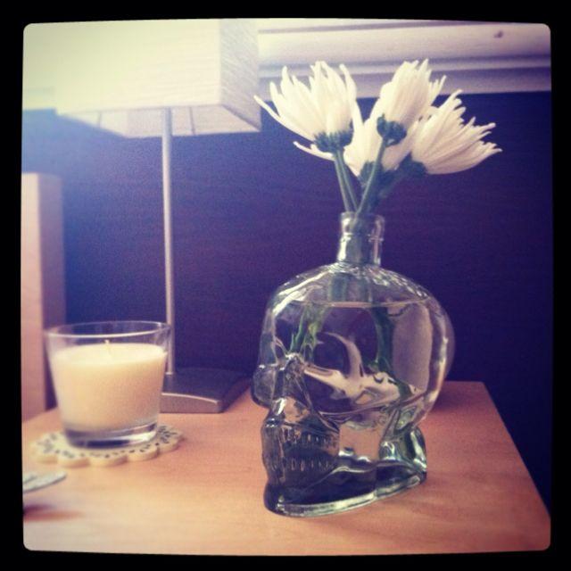 Hello gorgeous. Crystal Skull Vodka bottle.