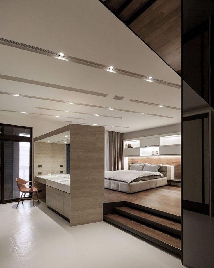 Design moderne et minimaliste de la chambre à coucher Lo Residence de LGCA DESIGN. #lux … – Les plus belles idées de mobilier