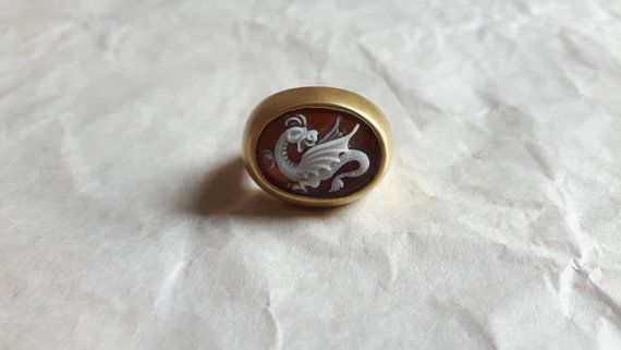 If you feel aggressive there is nothing better than this dragon cameo ring.    #dragon #cameo #cameoring #donadiojewelry #gameofthrones #donadiocameo #dragoncameo
