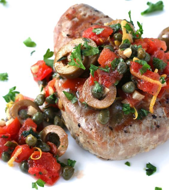 Sicilian Style Grilled Tuna Steaks Recipe Grilled Tuna Steaks Grilled Tuna Tuna Steak Recipes