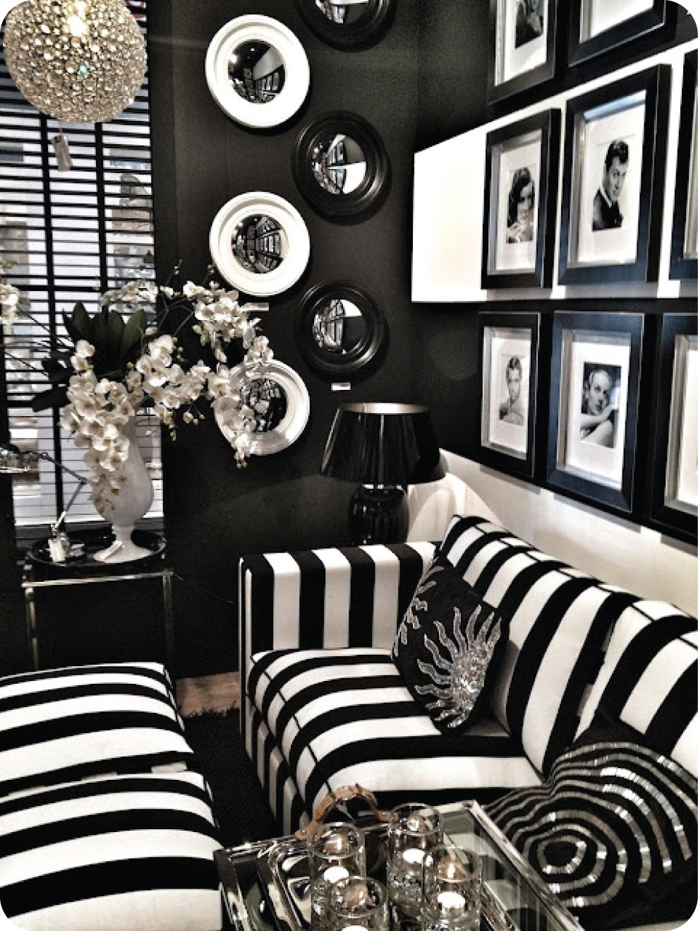 Old Hollywood Decor Bedroom Black And White Old Hollywood Decor Love This Will Add A Splash