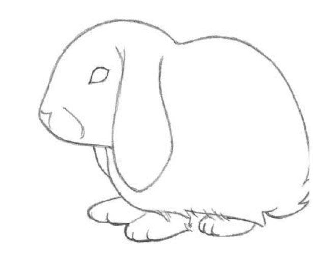 Kids can learn how to draw a bunny rabbit by starting with