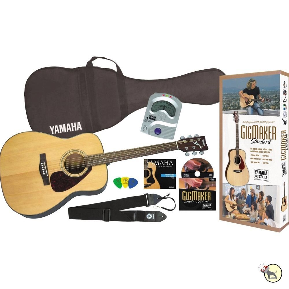 Yamaha Gigmaker Standard Acoustic Guitar Tuner Bag Strings Picks Beginner Pack Yamaha Guitar Yamaha Acoustic Yamaha Acoustic Guitar