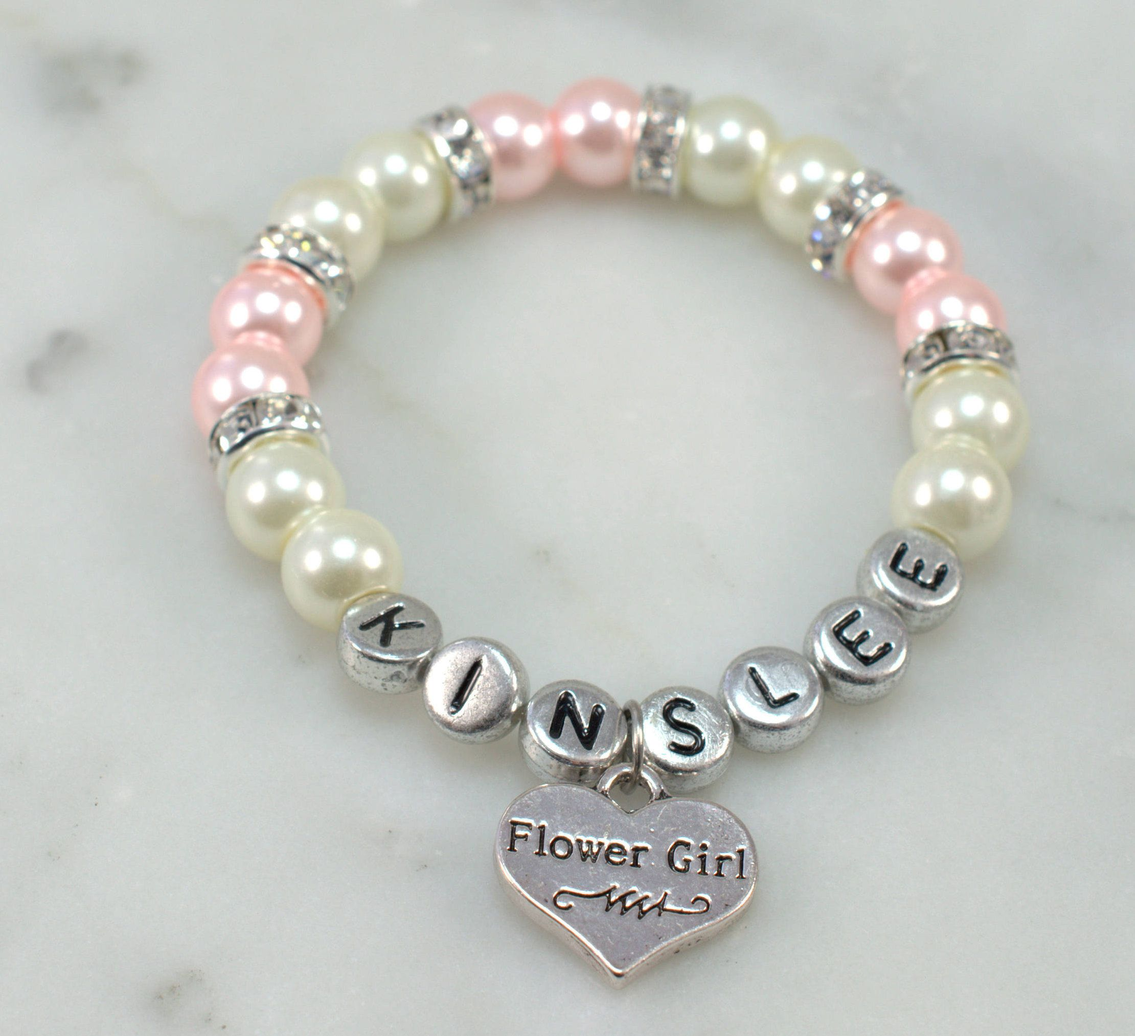 girls unique bracelets stretch flower bracelet flowergirl girl delivery on free make dsc diamond pendants for