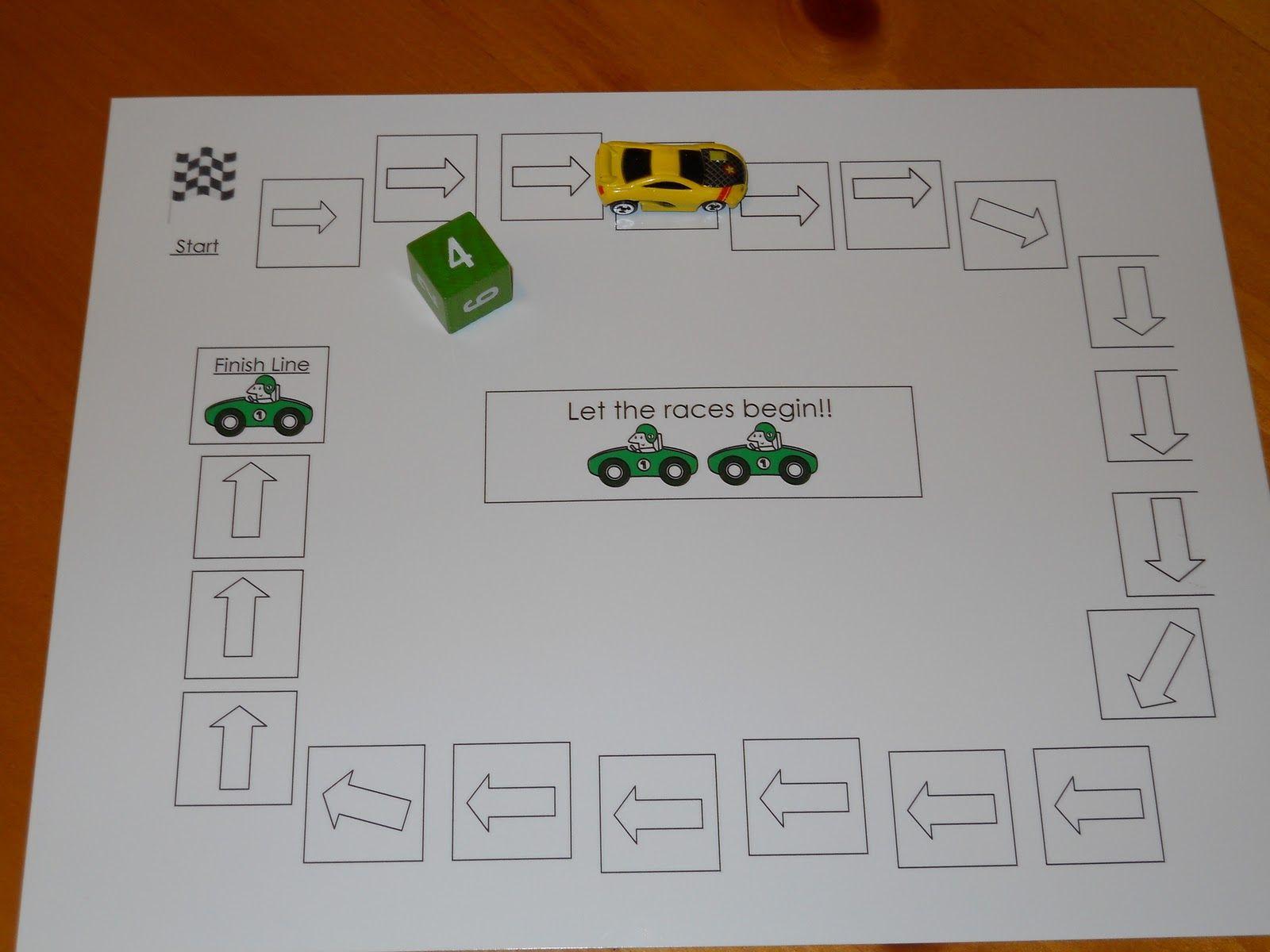 Car Racing Math Game School Math Pinterest Math And School