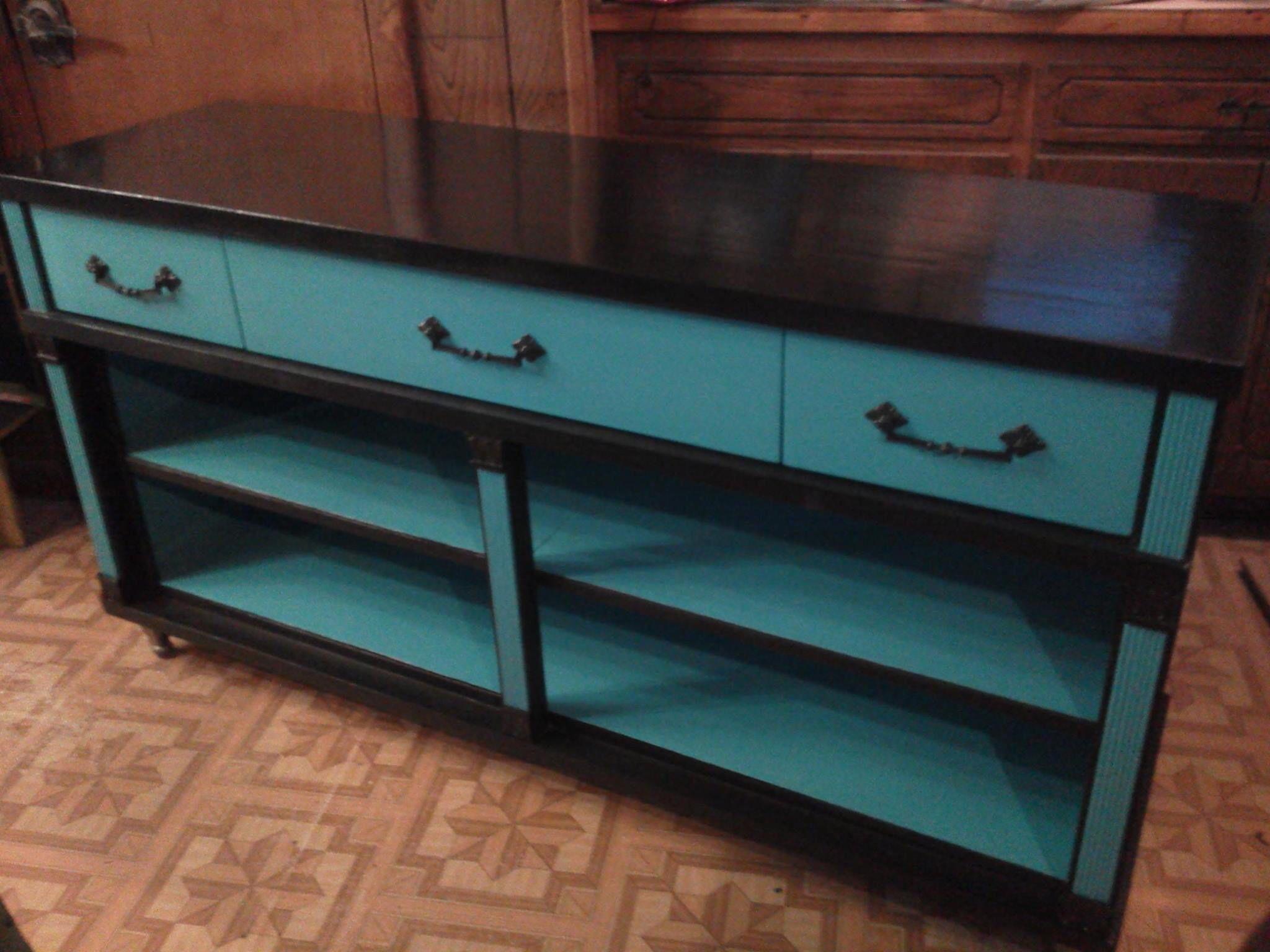 Elegant Teal And Black Dresser Redone | Furniture Inspiration | Pinterest | Black  Dressers And Dresser