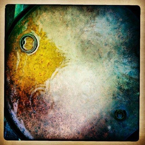 Barrel in rain