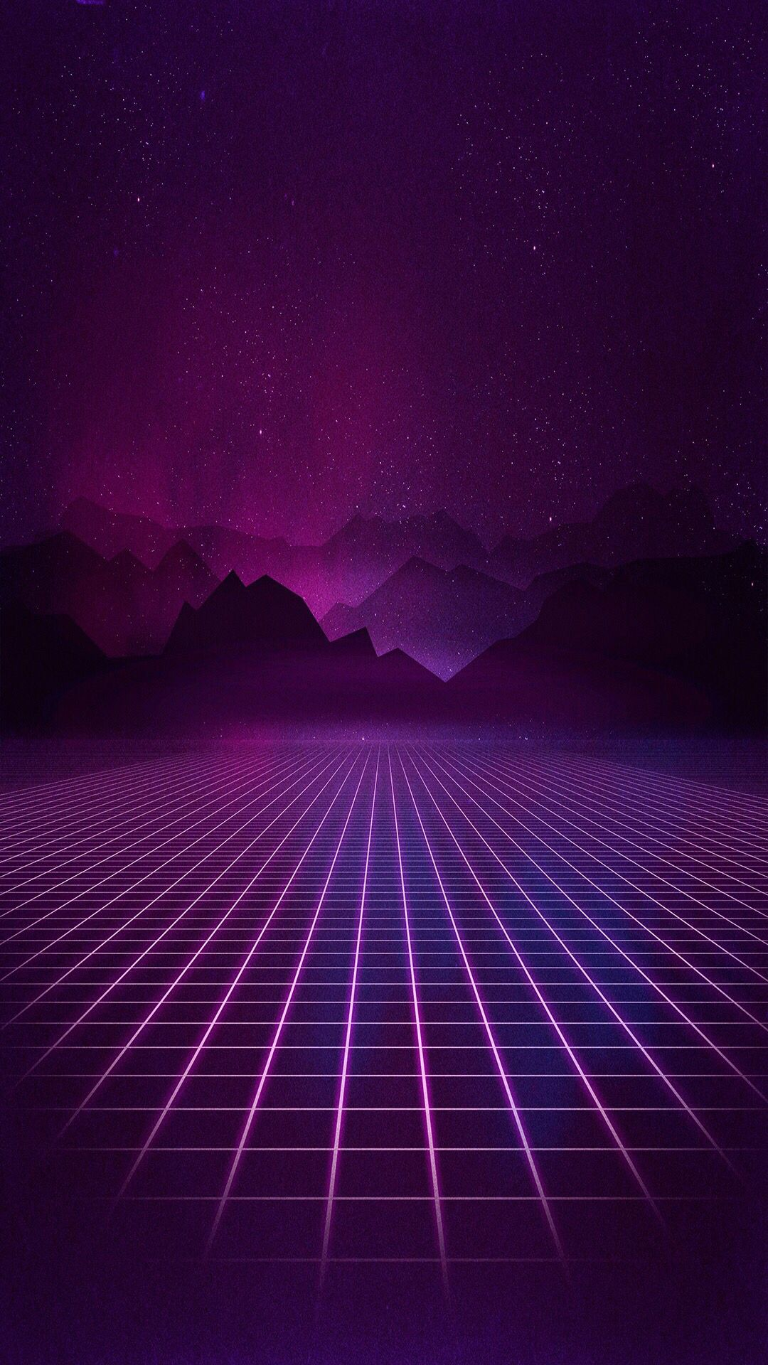 The way to purple mountains ^_^ Vaporwave wallpaper