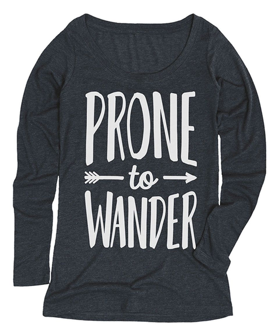 Heather Blue 'Prone to Wander' Long-Sleeve Tee by LC Trendz