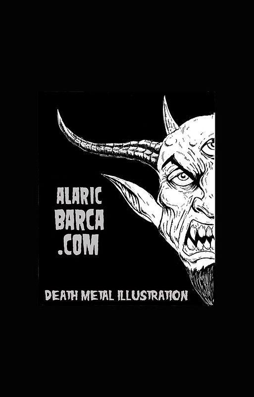 alaricbarca.com death metal illustration