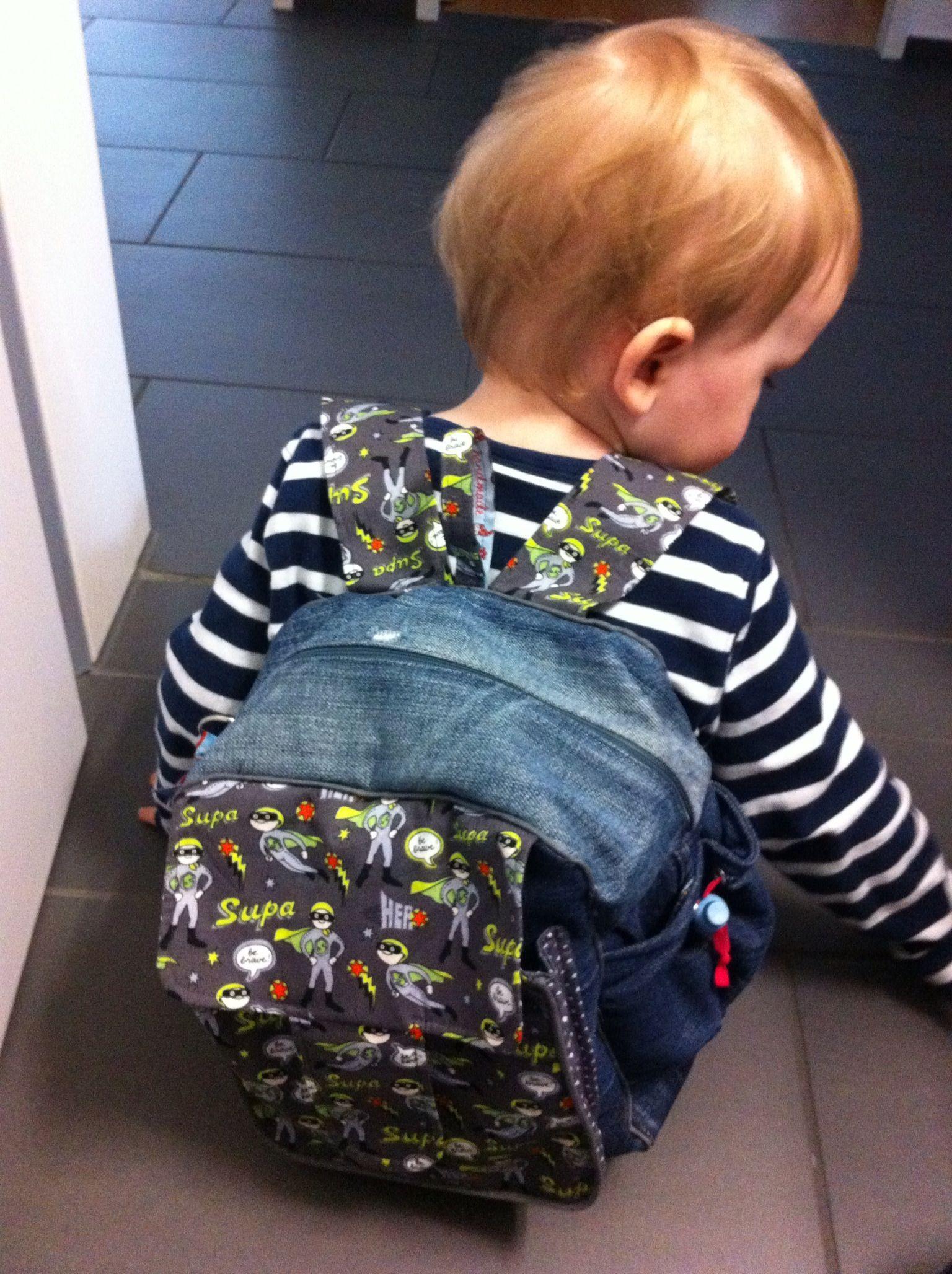Kindergarten Rucksack / backbag Rudi mit Hamburger Liebe Stoff ...