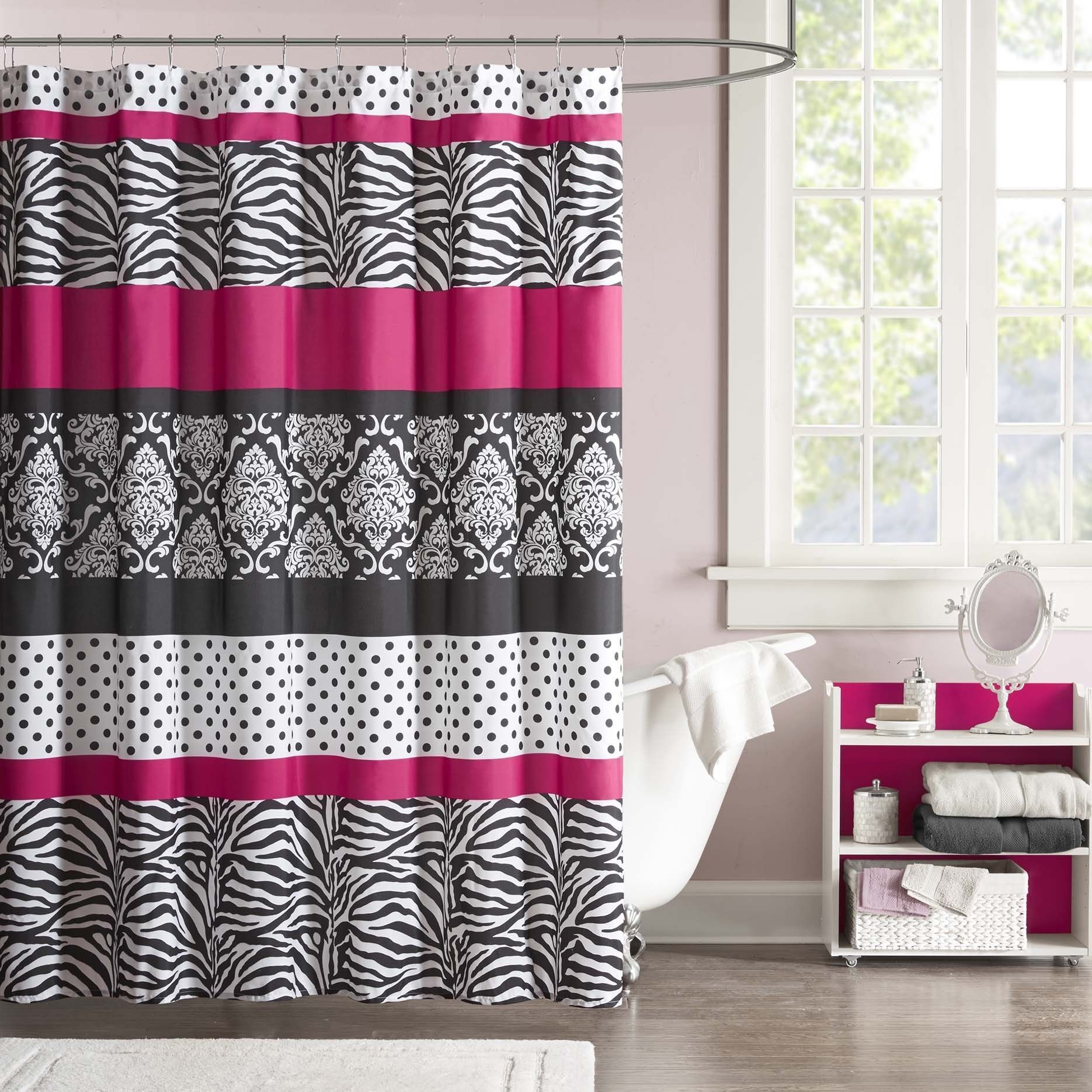 The Mi Zone Gemma shower curtain offers an edgy yet girly look for ...