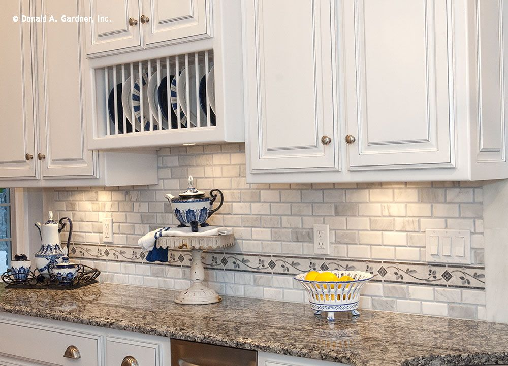 Easily store plates with these decorative built-in racks! http://www.dongardner.com/plan_details.aspx?pid=4229. #Easy #Storage #Kitchen