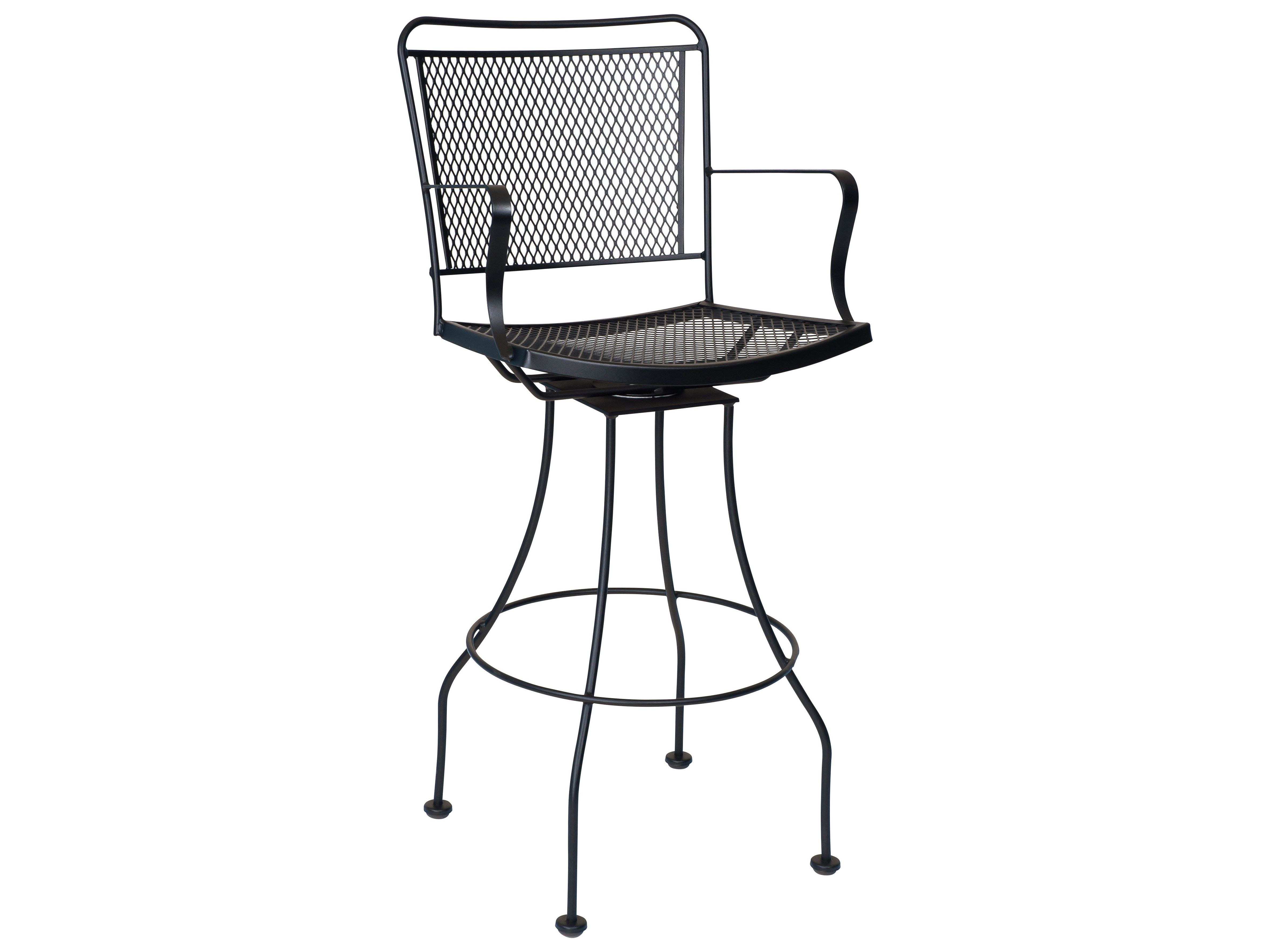Groovy Woodard Constantine Wrought Iron Swivel Bar Stool For The Bralicious Painted Fabric Chair Ideas Braliciousco