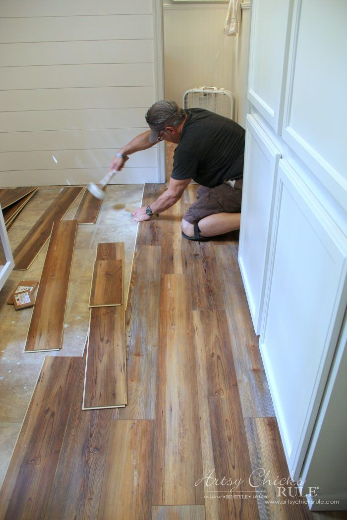 Farmhouse Vinyl Plank Flooring One Room Challenge Week 5 Artsy Chicks Rule Vinyl Wood Flooring Vinyl Plank Flooring Plank Flooring