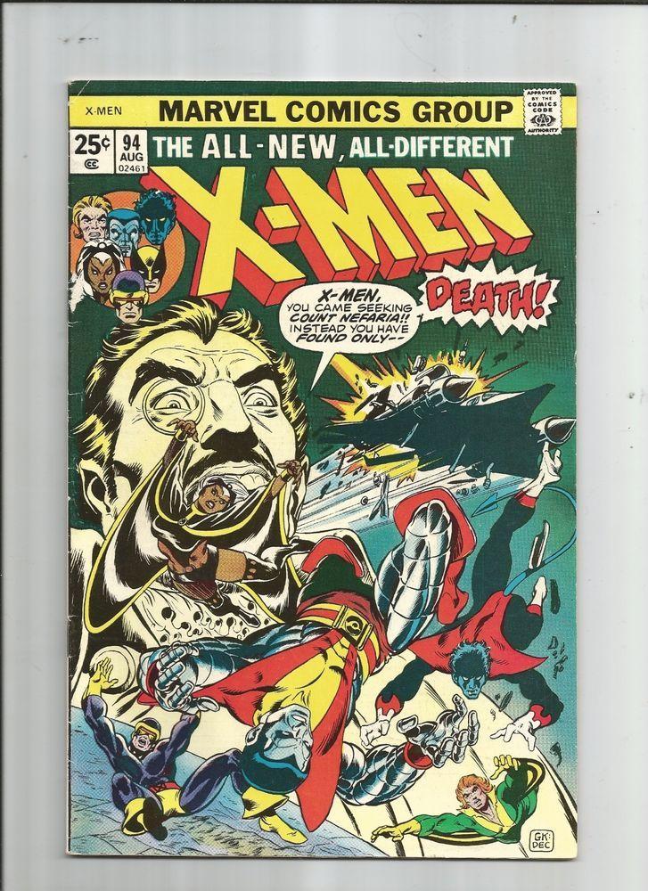 Uncanny X Men 94 First New X Men In Continuity Storm Nightcrawler Colossus 6 5 Http R Ebay Com Ljafib Rare Comic Books Classic Comics Marvel Comics Covers