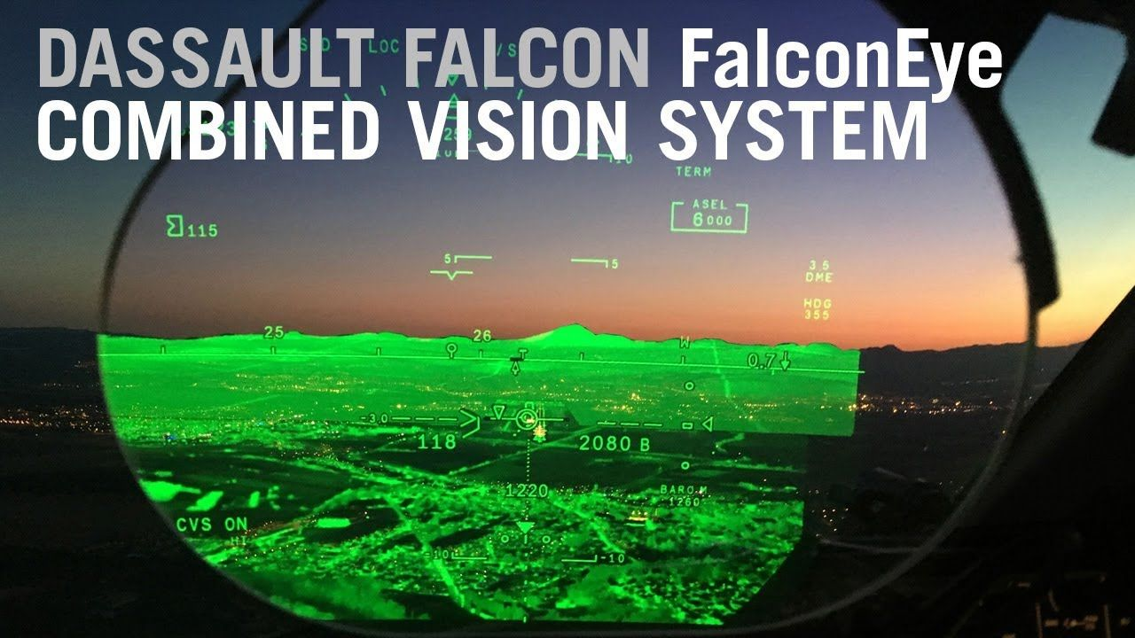 Flying with the Dassault Falcon FalconEye Combined Vision