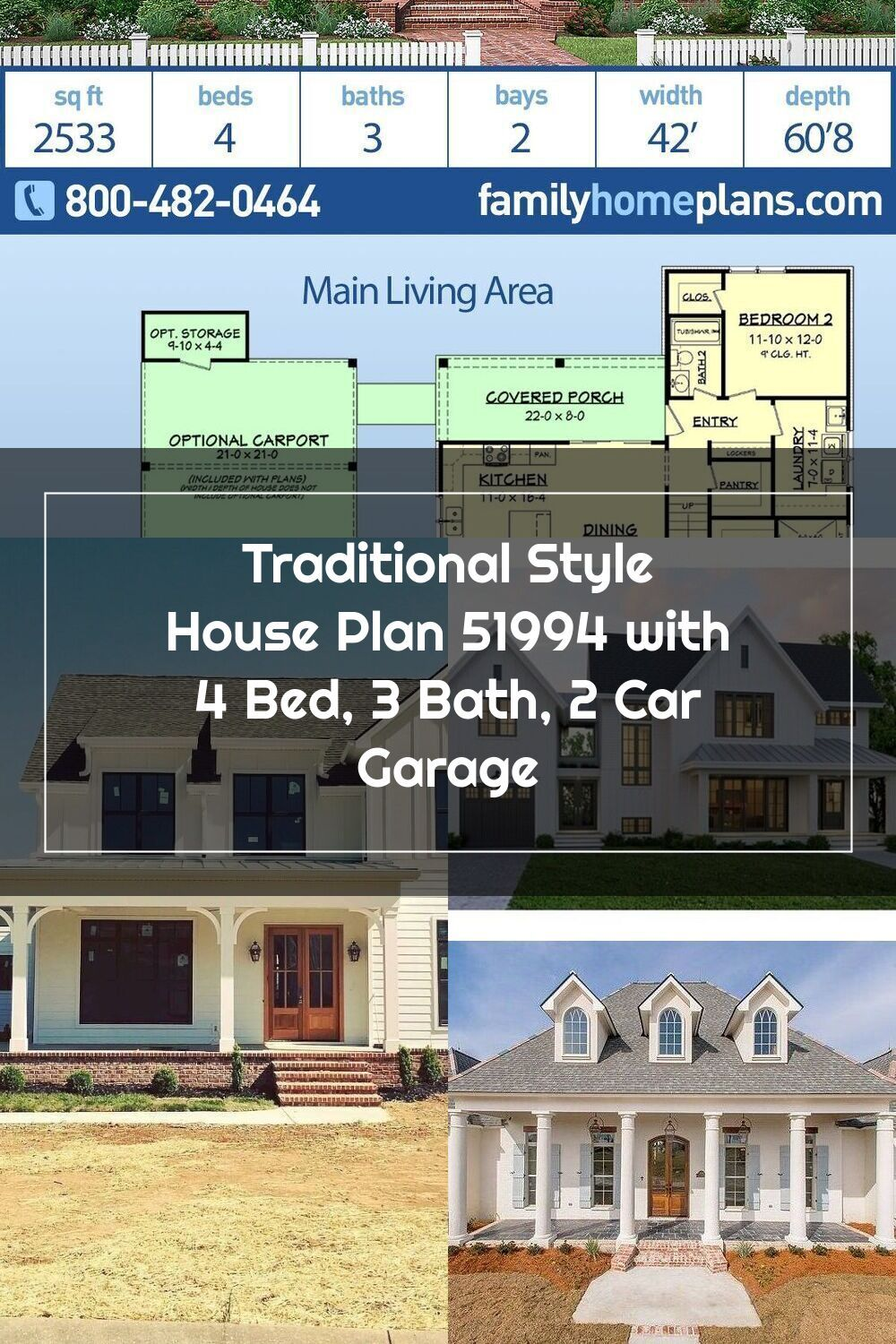 2 Story Country House Plan With Large Porches And An Open Living Concept The First Floor Provides An Larg In 2020 House Plans Farmhouse Country House Plan House Plans