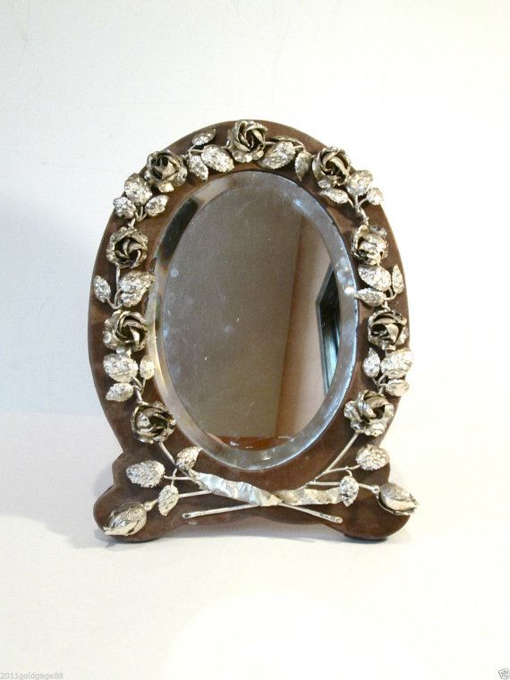 Antique Sterling Silver Picture Frame Or Mirror By Coralreef55